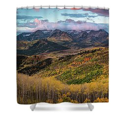 Sunrise View Of Mount Timpanogos Shower Curtain