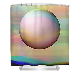 Shower Curtain featuring the digital art Sunrise Visitor by Wendy J St Christopher
