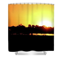 Sunrise Water Tower Shower Curtain