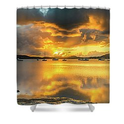 Sunrise Waterscape With Reflections Shower Curtain