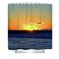 Sunrise Wave I I I Shower Curtain by Newwwman