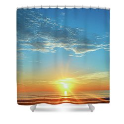 Sunrise With Flare Shower Curtain