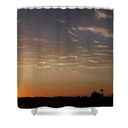 Sunrise With Windmill Shower Curtain