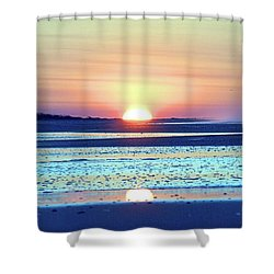 Sunrise X I V Shower Curtain by Newwwman