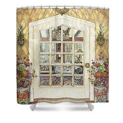 Sunroom Entrance Shower Curtain by Bonnie Siracusa