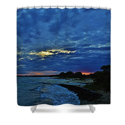 Shower Curtain featuring the photograph Suns Last Light by Craig Wood