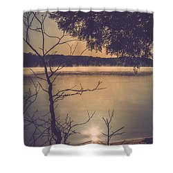 Suns Reflection Shower Curtain