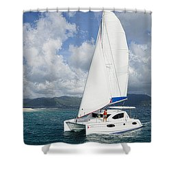 Sunsail Catamaran Shower Curtain
