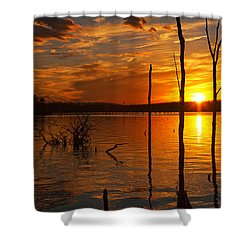 Shower Curtain featuring the photograph sunset @ Reservoir by Angel Cher