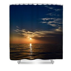 Shower Curtain featuring the photograph Sunset 1  by Shabnam Nassir