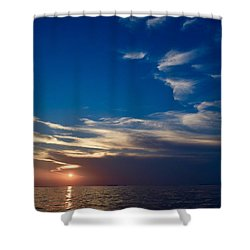 Shower Curtain featuring the photograph Sunset 2 by Shabnam Nassir
