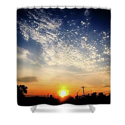 Shower Curtain featuring the photograph Sunset 25 May 16 by Toni Martsoukos
