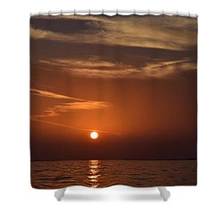 Shower Curtain featuring the photograph Sunset 3 by Shabnam Nassir