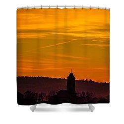 Sunset 6 Shower Curtain by Jean Bernard Roussilhe