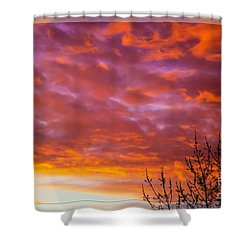 Sunset 7 Shower Curtain by Jean Bernard Roussilhe