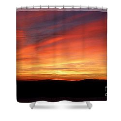 Sunset 9 Shower Curtain by Jean Bernard Roussilhe