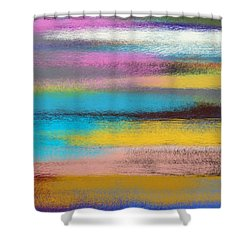 Shower Curtain featuring the digital art Sunset Abstract by Riana Van Staden
