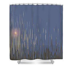 Sunset Across The Lake Shower Curtain