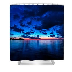 Shower Curtain featuring the photograph Sunset After Glow by Christopher Holmes