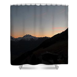 Sunset Afterglow In The Mountains Shower Curtain