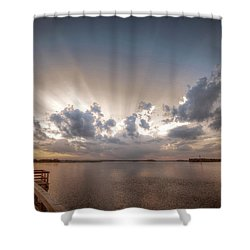 Sunset Aftermath Shower Curtain