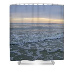 Sunset Along Oak Island Shower Curtain