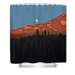 Sunset And Sunrise At Mt Adams Shower Curtain by Jack Moskovita