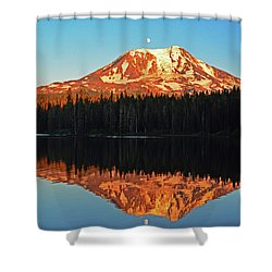 Sunset And Sunrise Mt Adams Shower Curtain
