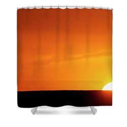 Sunset And Tree -01 Shower Curtain