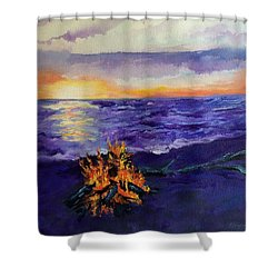 Sunset, Angola On The Lake Shower Curtain