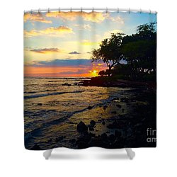 Sunset At A-bay Shower Curtain