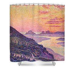 Sunset At Ambleteuse Pas-de-calais Shower Curtain by Theo van Rysselberghe