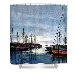Sunset At Apollo Beach Shower Curtain