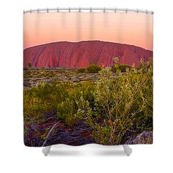 Sunset At Ayers Rock Shower Curtain