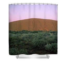 Sunset At Ayre's Rock Shower Curtain