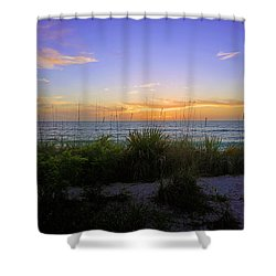 Sunset At Barefoot Beach Preserve In Naples, Fl Shower Curtain