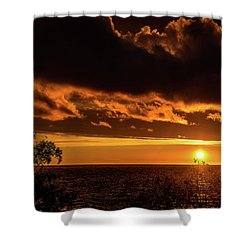 Shower Curtain featuring the photograph Sunset At Bay Harbor by Onyonet  Photo Studios