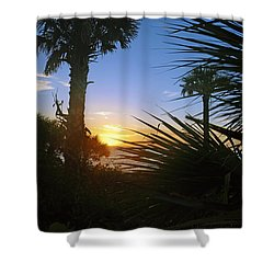 Sunset At Bearefoot Beach In Naples Shower Curtain