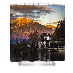 Sunset At Bled Shower Curtain