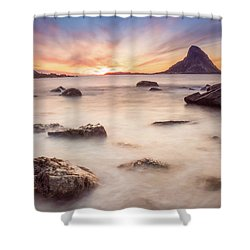Sunset At Bleik Shower Curtain