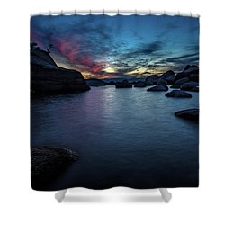Sunset At Bonsai Rock Shower Curtain