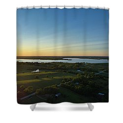 Sunset At Branched Oak Lake Shower Curtain