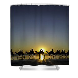 Sunset At Cable Beach Shower Curtain