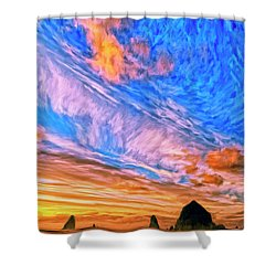 Sunset At Cannon Beach Shower Curtain
