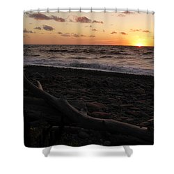 Sunset At Cap Rouge Shower Curtain by Joel Deutsch