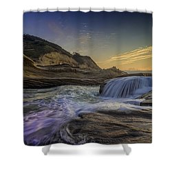 Sunset At Cape Kiwanda Shower Curtain by Rick Berk