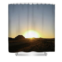 Sunset At Castle Butte Sk Shower Curtain