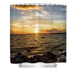 Sunset At Cedar Key Shower Curtain