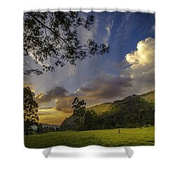 Sunset At Cocora Shower Curtain