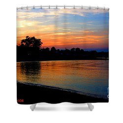 Sunset At Colonial Beach Cove Shower Curtain by Clayton Bruster